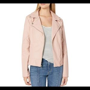 Guess Pink faux leather biker jacket brand new